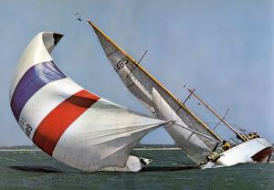 Eloise II, départ au lof - Fastnet 1966