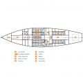 Plan des aménagements intérieurs - Eloise II
