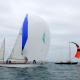 Classic Channel Regatta 2017. Eloise II bord à bord avec Pen Duick II. Photo Stéphane Claeyssens.